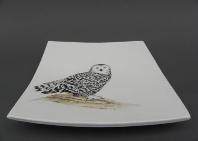 snowy owl plate by Hooper
