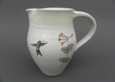 hummingbird and columbine pitcher by Hooper