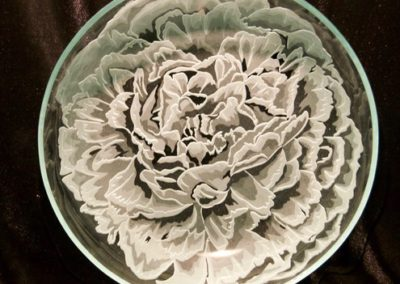 etched glass plate