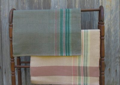 hand -woven table runners by Alice Gillespie