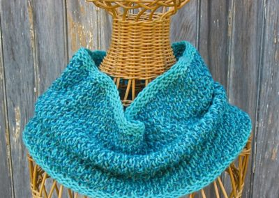 hand- knit cowl by Alice Gillespie