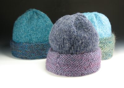 hats with hand-spun yarn by Alice Gillespie