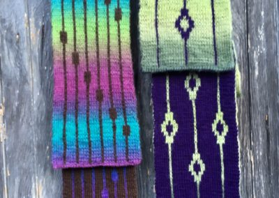 double knit scarves