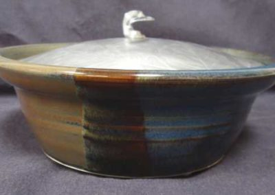 pottery with aluminum lid