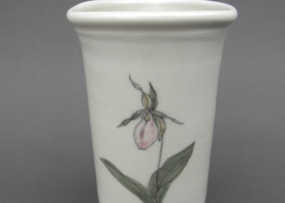 Ladyslipper porcelain vase