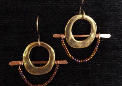mixed media earrings by Linda Kondikoff