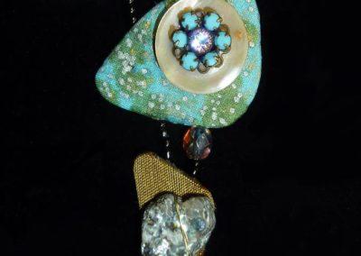 mixed media necklace by Linda Kondikoff