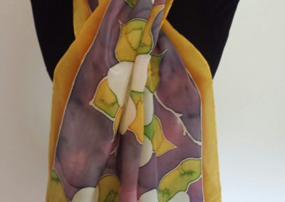 Hand-painted silk by Sue Shelly