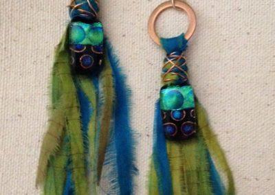 sari earrings  by Linda Kondikoff