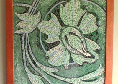 Orchid - glass mosaic