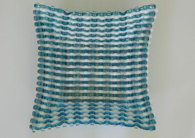 unique 3 color basket weave bowl