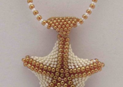 beaded  starfish  pendant/necklace