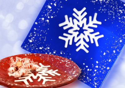 Let it Snow Fused Glass Plates (F&F)